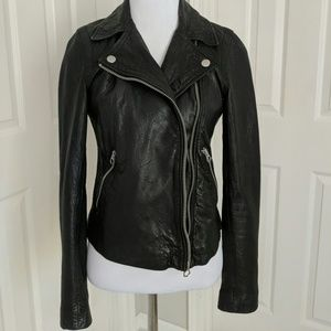 Madewell Washed Leather Motorcycle Jacket  NWT